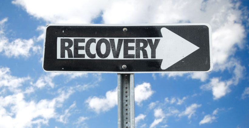 61039958 - recovery sign with arrow on sunny background